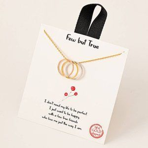 Tri-Colored Ring Charm Necklace